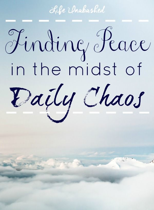calmness in the midst of chaos I've had a lot of experience helping people to find their place of calmness or strength in the midst of chaos or adversity.