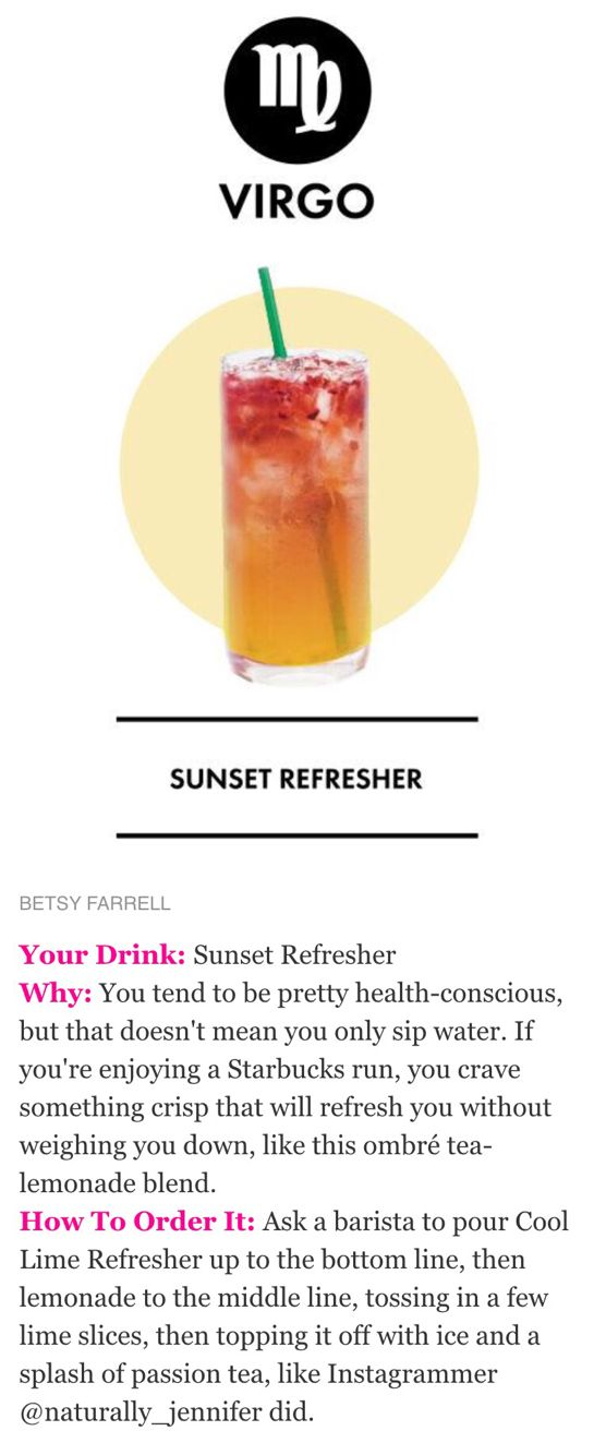 Starbucks secret menu recipe - Sunset refresher