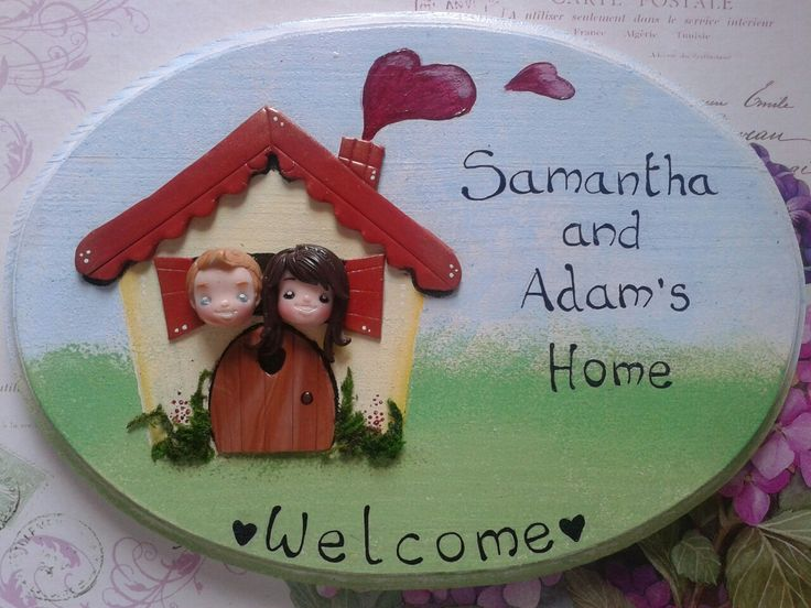 Fimo Welcome door tag