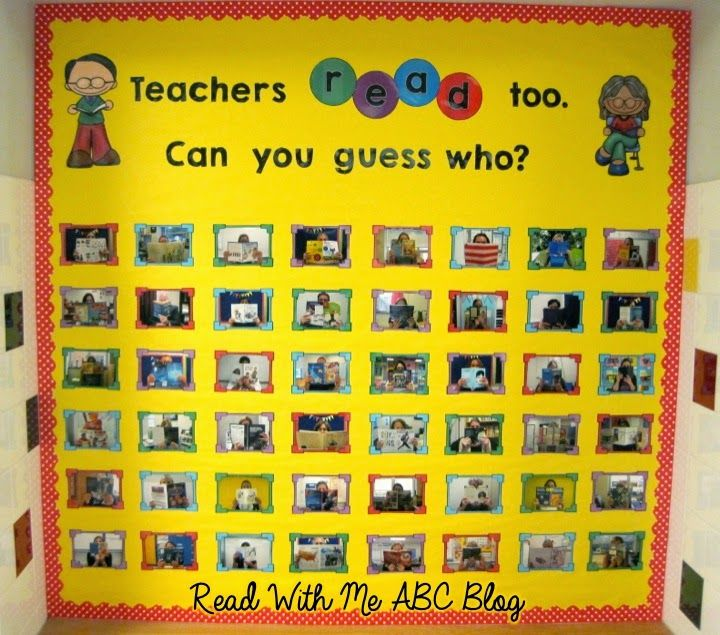 "do teacher version first then later do ""We READ too. Can you guess who?"" but with students"
