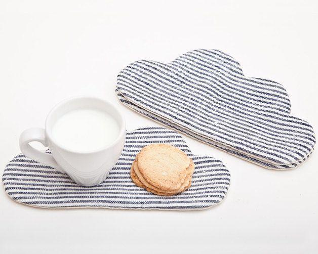 Cloud Coaster for cups, Drink Coaster. Via en.DaWanda.com.