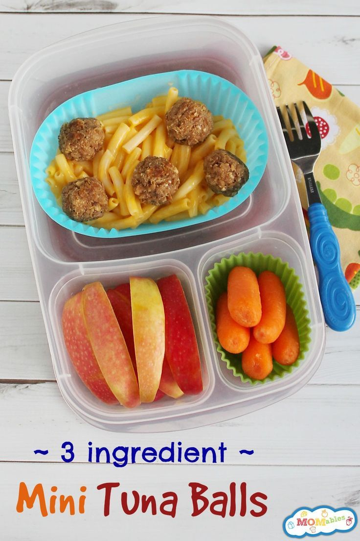Allergy Friendly 3 Ingredient Mini Tuna Balls | packed in #EasyLunchboxes