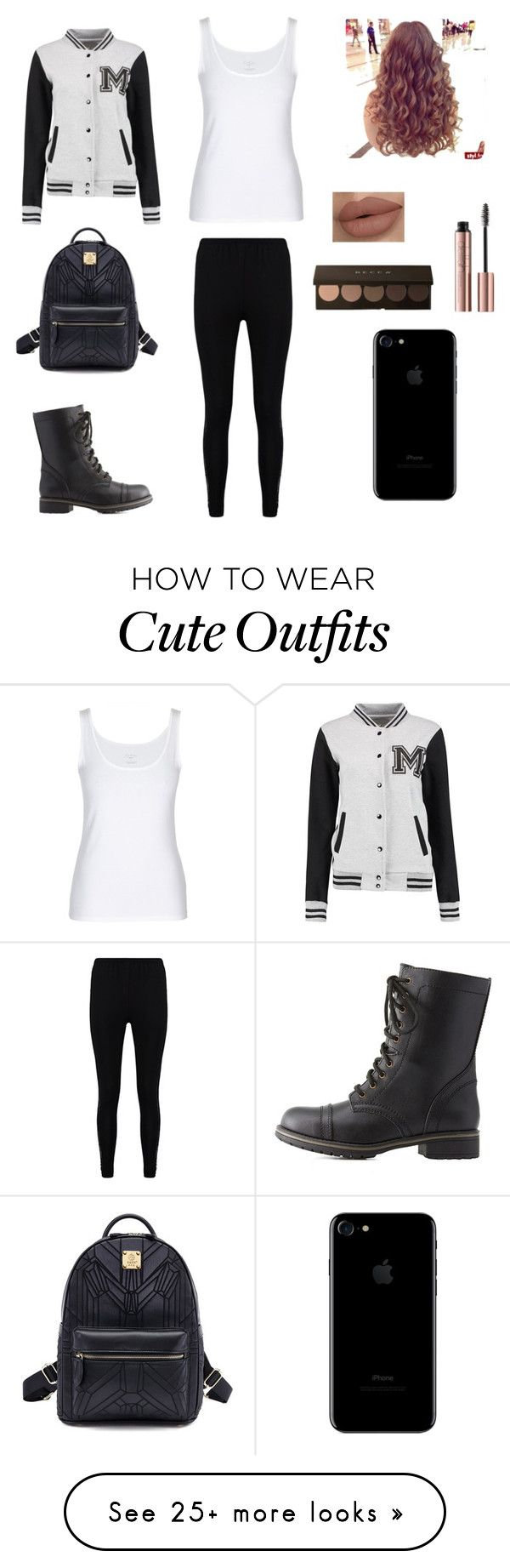 """Cute varsity jacket outfit"" by stuff4m on Polyvore featuring Charlotte Russe and Boohoo"