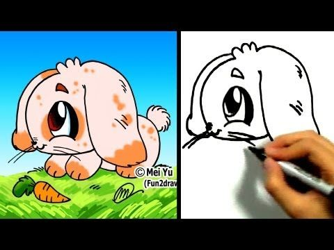 """How to draw a bunny"" - ""How to draw a rabbit"" - ""how to draw animals"" step by step! Watch 100+ easy drawing tutorials here: http://www.youtube.com/Fun2draw  LIKE Fun2draw on Facebook :) http://www.facebook.com/Fun2draw    Watch these AWESOME Fun2draw playlists:    Uploaded Videos  http://www.youtube.com/playlist?list=UUFf_ebUsE0QHD9AMVTD_npQ    How to..."