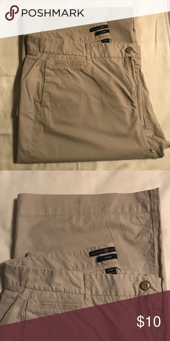 GAP trousers GAP stretch khaki wide leg trousers. Lightly loved. GAP Pants Trousers