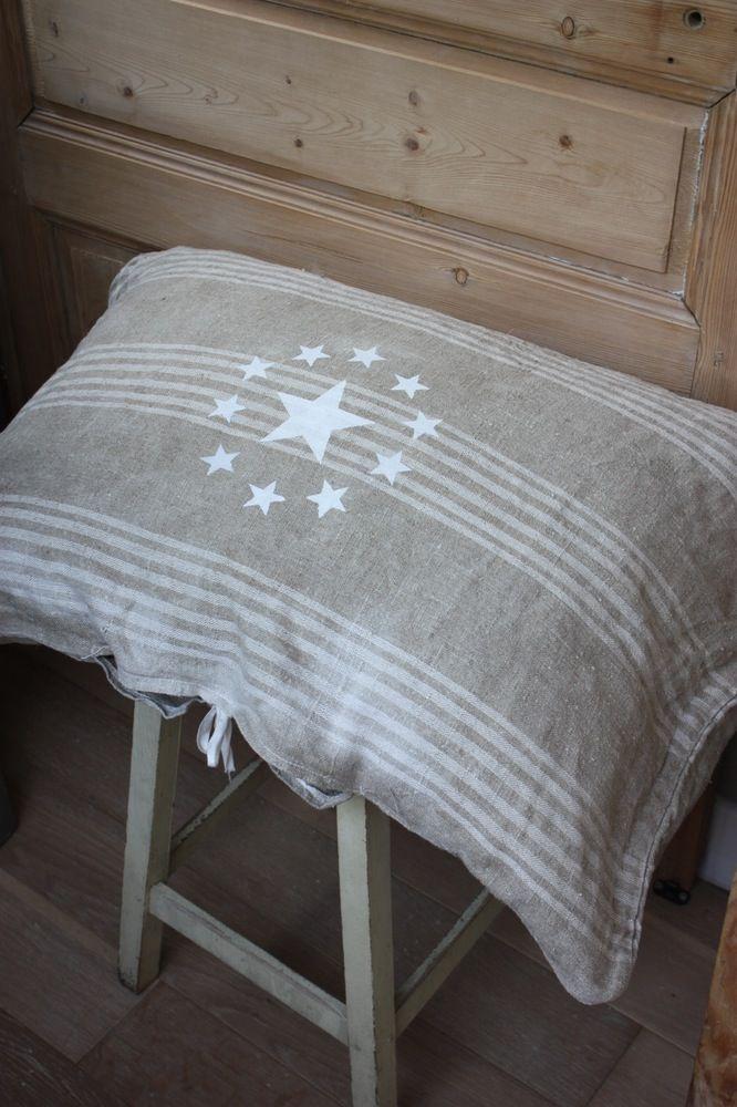 linen star pillow ♥