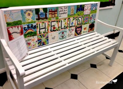 Awesome Fundraiser Bench!!!  Great idea for your next event! http://www.homeroad.net/2013/05/fundraiser-bench.html#more