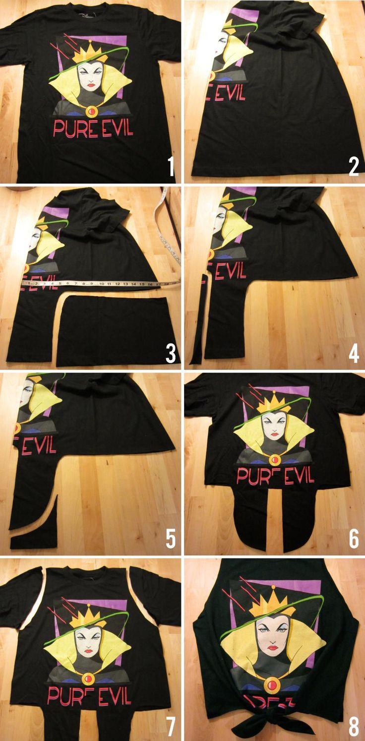 DIY Tutorial: DIY T-shirt / DIY Clothes Refashion: DIY No Sew Tie-Front Tank - Bead&Cord