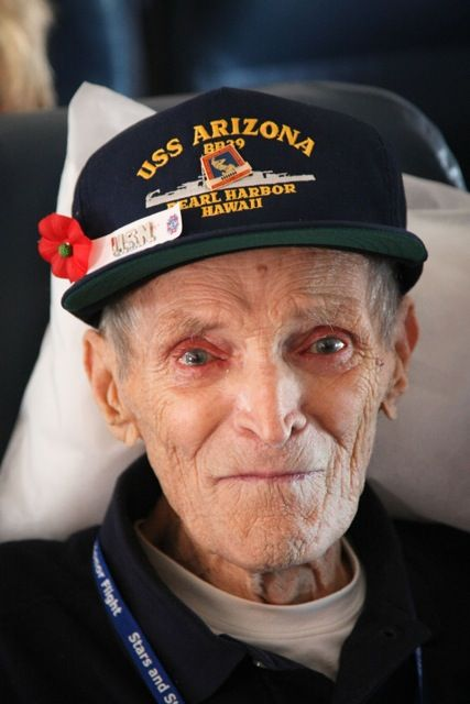 Pearl Harbor Vet - Thank you for your service, Sir! . . . Is it only me or do you also see pain still in those eyes?