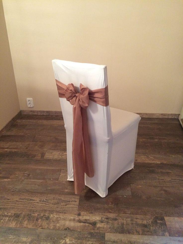 Bérelhető spandex székszoknya kávébarna színű selyem masnival Érd