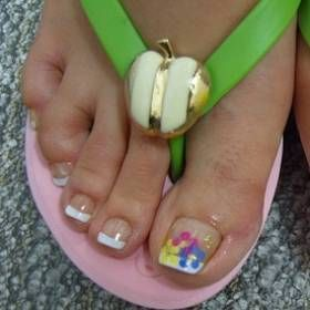Hottest French Pedicure Designs