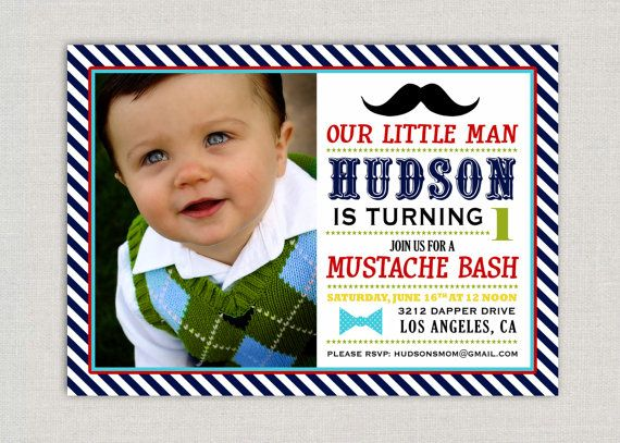 38 best Connors First Birthday Ideas images – Little Man Birthday Party Invitations