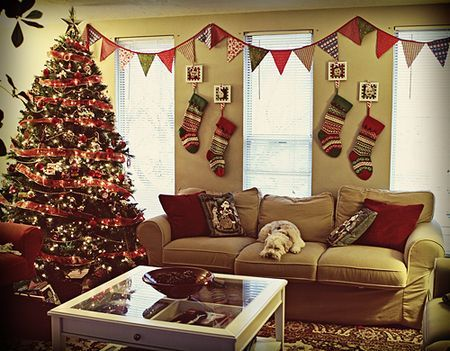 no fireplace? great idea to hang christmas stocking on the wall! - Best 25+ Christmas Stocking Holders Ideas On Pinterest Stocking