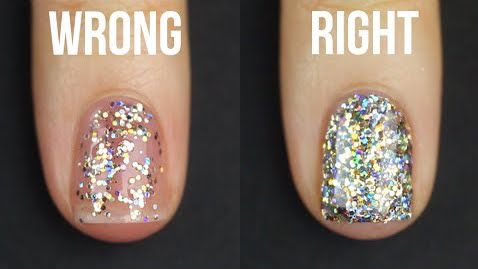 This glitter nail polish hack will take your mani game to a whole new level
