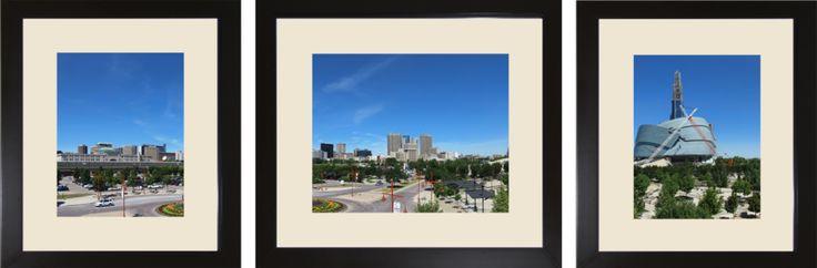 Virtual Triple Framed and Matted Winnipeg Skyline by *Joe-Lynn-Design on deviantART