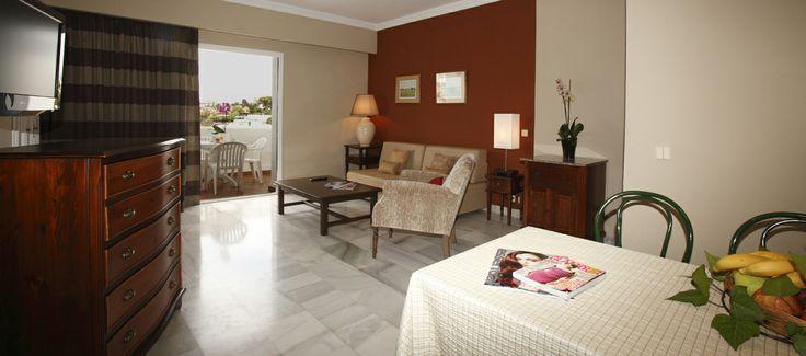 Suite living room , Hotel PYR Marbella, Puerto Banus, Marbella, Costa del Sol, Spain