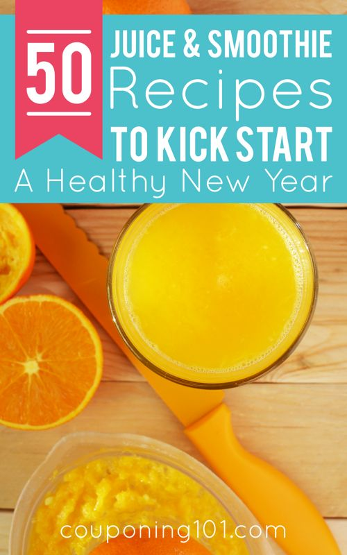 Stay on track with your health goals!! Here are 50 different juice and smoothie recipes rounded up to help you kick start a healthy new year!