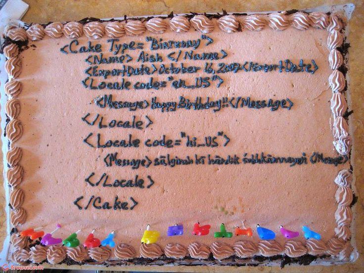 XML Geek Cake