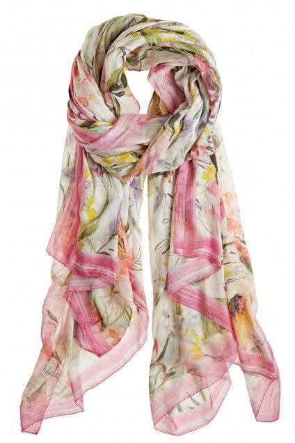 Faliero Sarti Ete Floral Silk Blend Scarf     Calypso St. Barth