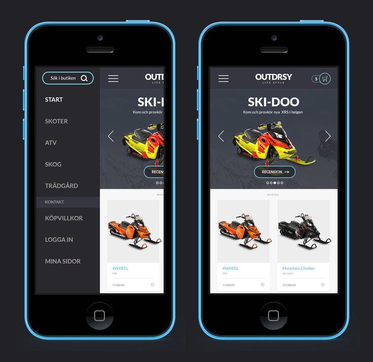 OUTDRSY responsive e-commerce website design