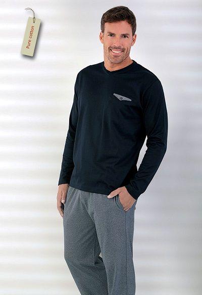 Pijama hombre invierno Massana algodón 100%. Comodidad y elegancia unidas de la mano