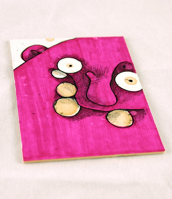 Purple Monster Original ACEO Drawing by Aaron by Aaronbutcher, $5.00