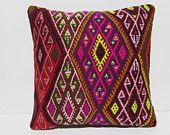 20x20 kilim pillow 20x20 large kelim rug large sofa pillow 20x20 couch pillow oversize pillow case oversized pillow cover pink pillow 29901
