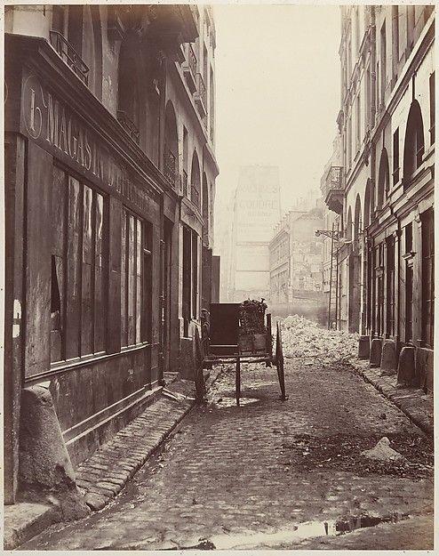 Charles Marville   Rue Estienne, de la rue Boucher   The Met