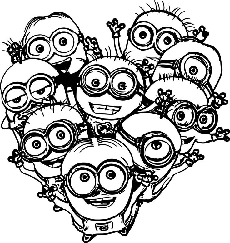 images of coloring pages minions rocking | 100 best coloring pages images on Pinterest | Children ...
