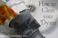 cleaning the dyson vac...