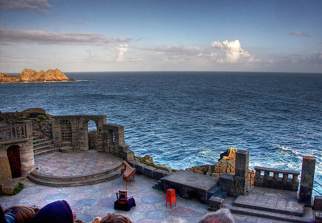 My all time favorite place on Earth.  The closest I ever felt to a god.  on a cliff side in cornwal - the minack theatre