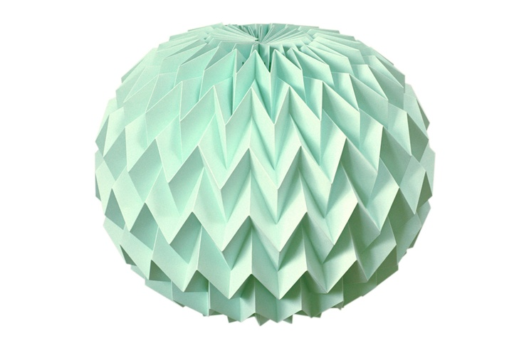 """Hanging decorative folded paper """"bubble"""" ball"""