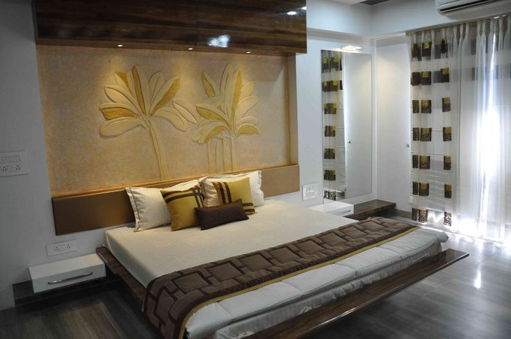 Luxury bedroom design by rajni patel interior designer in for Bedroom wallpaper designs india