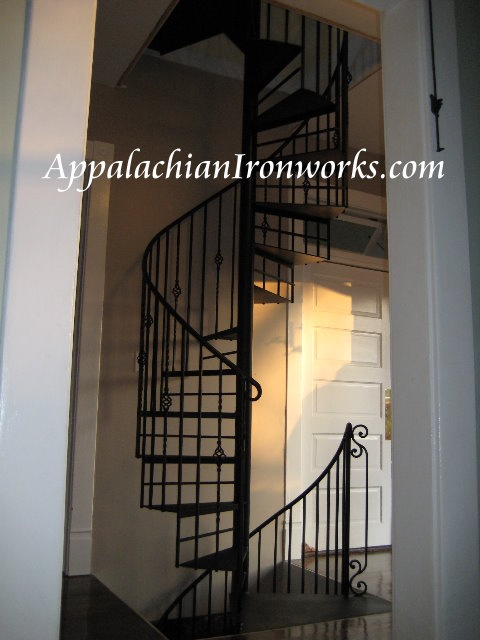 Pin by appalachian ironworks on spiral staircases by for 2 story spiral staircase