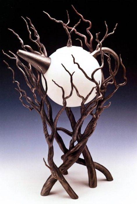 Druids Trees: Moon and trees teapot.