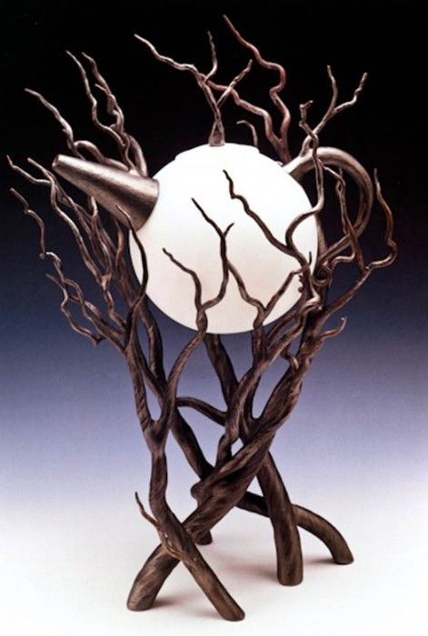 Moon and trees teapot.
