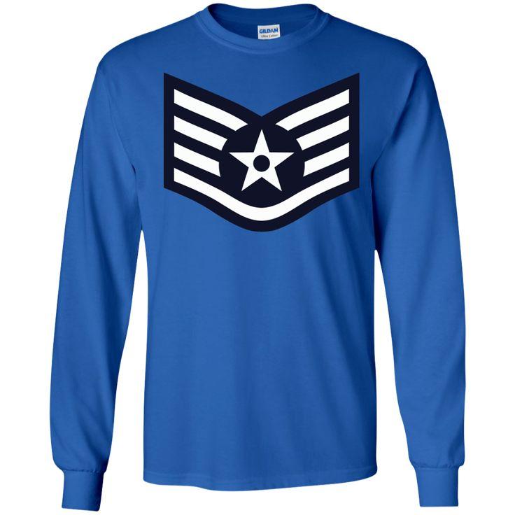 Air Force Staff Sergeant Rank LS Ultra Cotton Tshirt