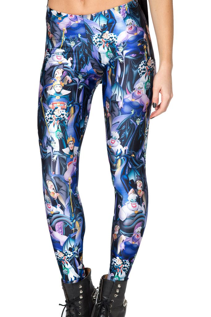 Disney Villains Leggings by Black Milk Clothing $85AUD - Size S (SOLD)