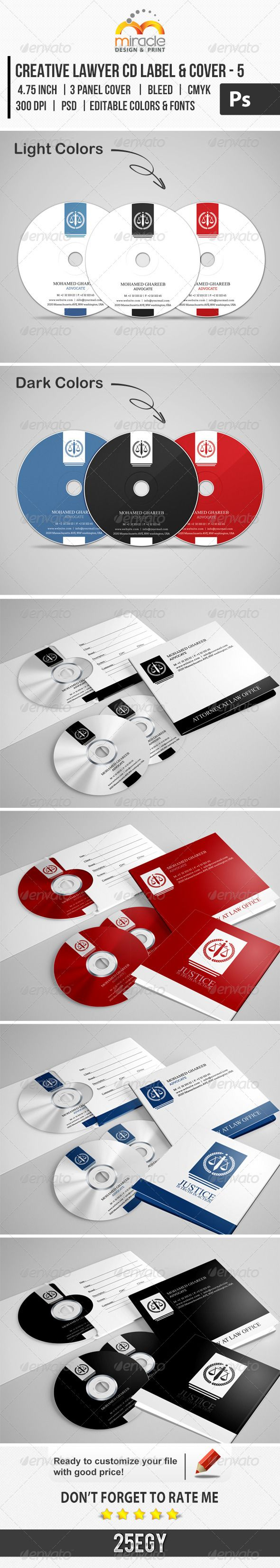 Creative Lawyer CD Label & Cover #5 — Photoshop PSD #lawyer #psd • Available here → https://graphicriver.net/item/creative-lawyer-cd-label-cover-5/7396036?ref=pxcr