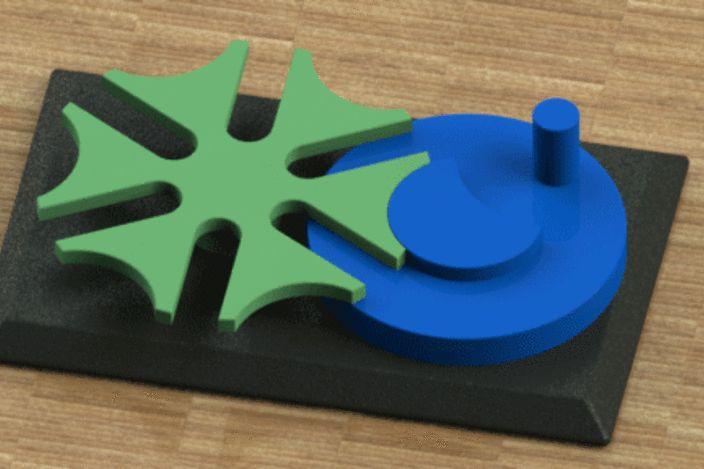 6 slotes geneva mechanism.