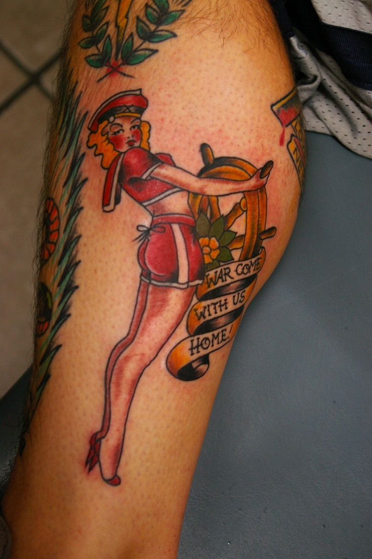 Tattoo By Gabe Garcia at IRON TIGER TATTOO Columbia MO Sailor Jerry Tattoo I did on a walk in about 3 years ago
