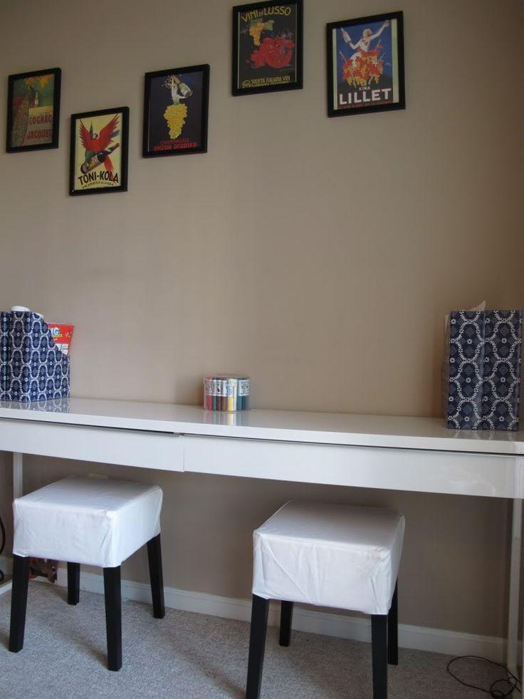 IKEA Besta Burs desk & stools -- kids craft area (from Clean, Smart, Simple Style)