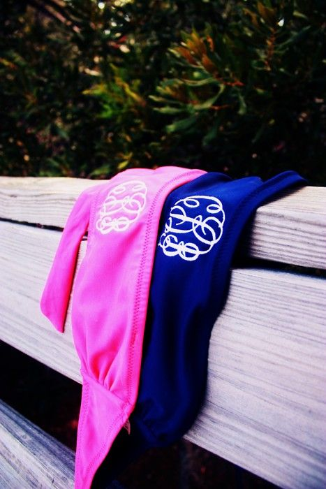 like the idea of the bandeau bathing suit monogrammed...going have to try this!