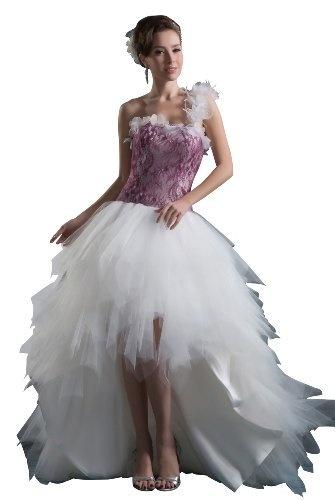 Herafa Une Épaule Princesse Robe De Mariée Train De Longueur De Balayage Décoré À La Main Avec Des Fleurs Violet Size: 42 herafa, http://www.amazon.fr/dp/B00BPTWEJA/ref=cm_sw_r_pi_dp_3f6orb0ZXKWYM