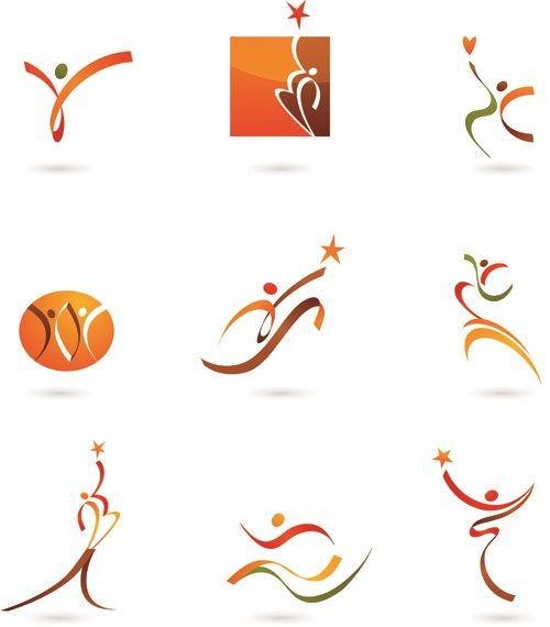 Sports for Logo People design vector 06