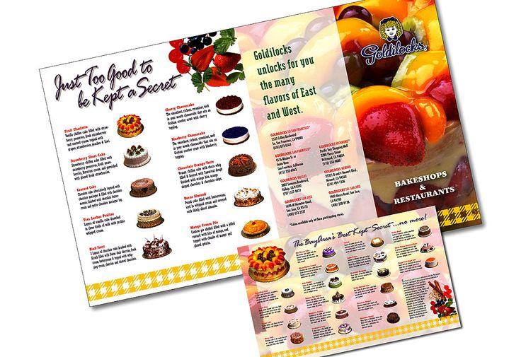 Goldilocks Bakery &amp Restaurants Four Fold Cakes Brochure Front Back  cakepins.com