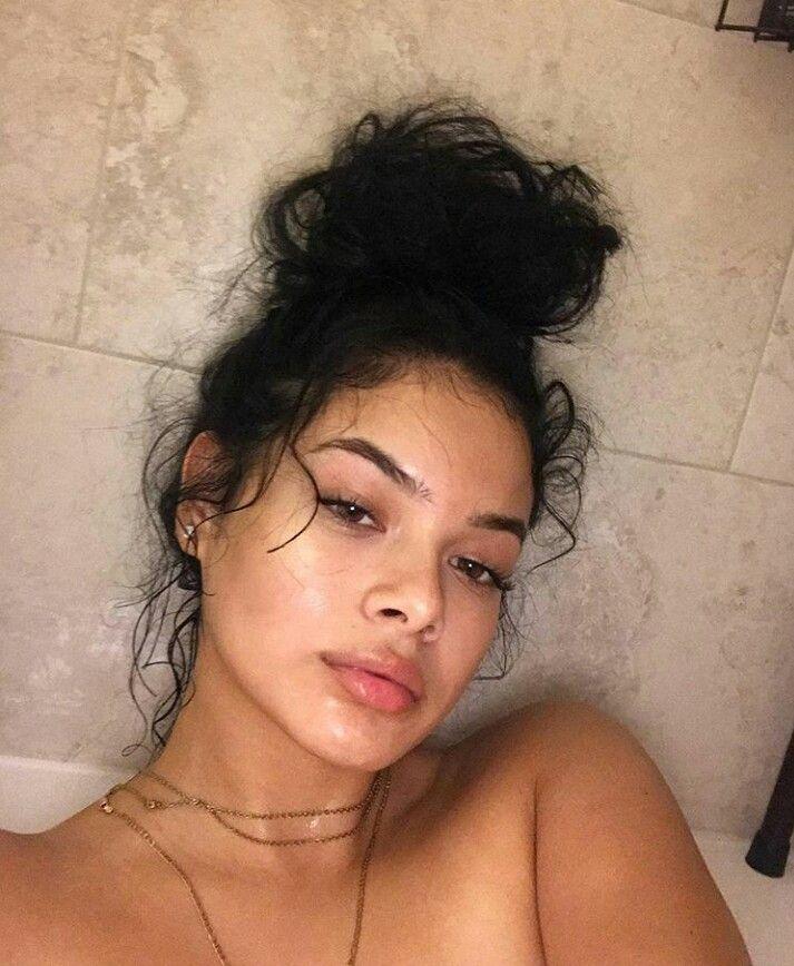 Hispanic girl with curly hair