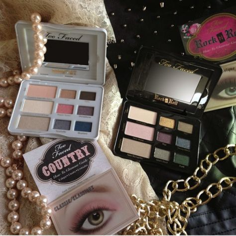 Too Faced Country and Rock N Roll Palettes