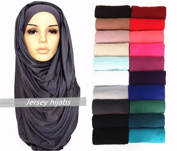 21 Colors Plain Solid Color Jersey Hijab 2017 Latest Style Fulares Mujer Wrap Snood Echarpes Foulard Women Winter Sjaal 180*85Cm
