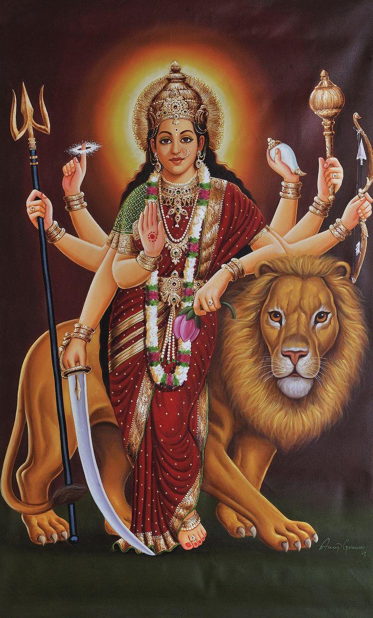 Calendar Art Of Hindu Gods : Best durga maa images on pinterest goddesses indian